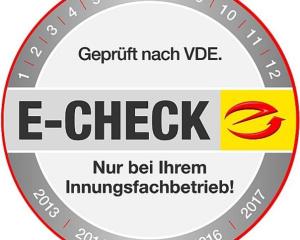 E-CHECK - die Prüfplakette für Ihre Sicherheit